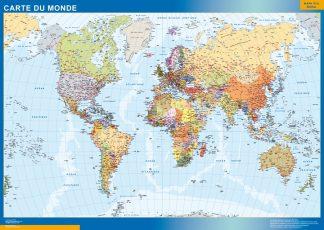 Carte monde plastifiée